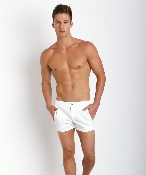 LASC Retro Coach's Short White