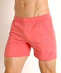 LASC Performance Training Shorts Heather Red, view 3