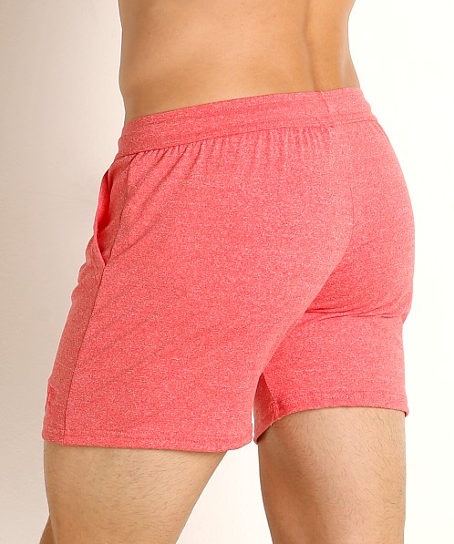 LASC Performance Training Shorts Heather Red