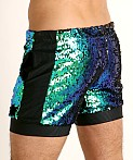 LASC Transformer Sequined Sparkle Trunk Blue/Green, view 4