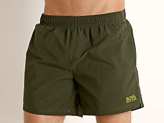 Hugo Boss Perch Swim Shorts Olive