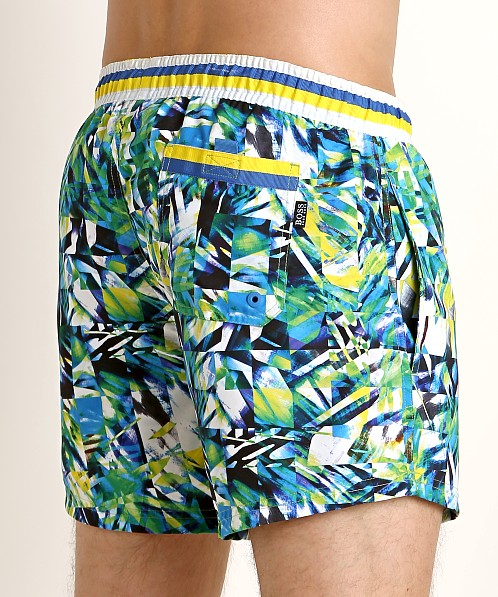 Hugo Boss Mandarinfish Swim Shorts Green/Blue Print