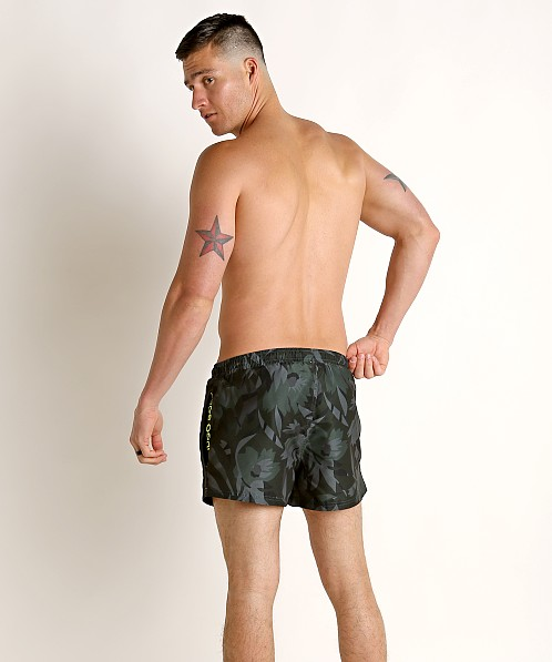 Hugo Boss Barreleye Swim Shorts Olive Print