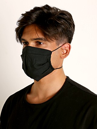 Complete the look: LASC 100% Cotton Face Mask Black