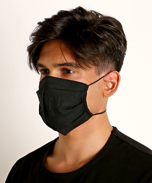 LASC 100% Cotton Face Mask Black