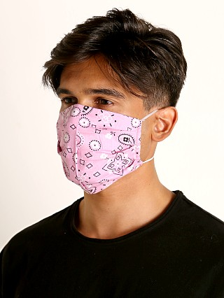 Complete the look: LASC Fashion Face Mask Bandana Print Pink