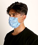 LASC Fashion Face Mask Bandana Print Sky Blue, view 1