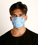 LASC Fashion Face Mask Bandana Print Sky Blue, view 2