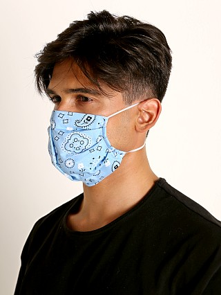 Complete the look: LASC Fashion Face Mask Bandana Print Sky Blue