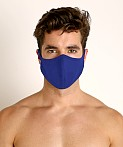 LASC Stretch Cotton Face Mask Cobalt, view 2