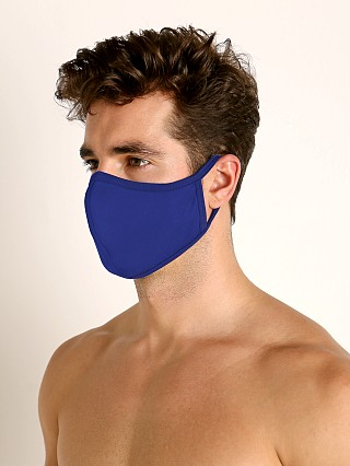 Complete the look: LASC Stretch Cotton Face Mask Cobalt