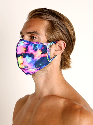 Complete the look: LASC Fashion Face Mask Neon Clouds
