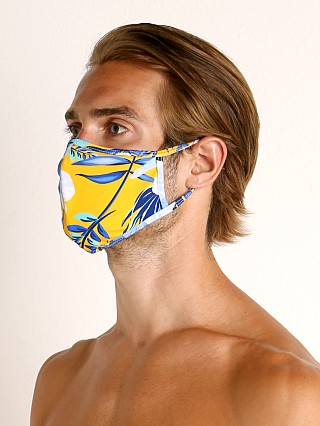 Complete the look: LASC Fashion Face Mask Blue Hibiscus