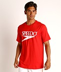 Speedo Vintage Logo T-Shirt Red, view 3