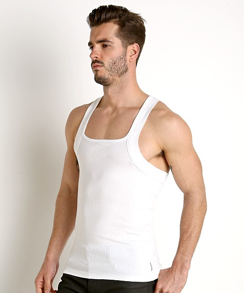 Calvin Klein Cotton Stretch Square Cut Tank Top 2-Pack White