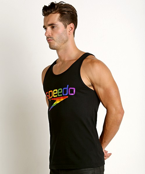 Speedo Rainbow Pride Tank Top Black/Rainbow