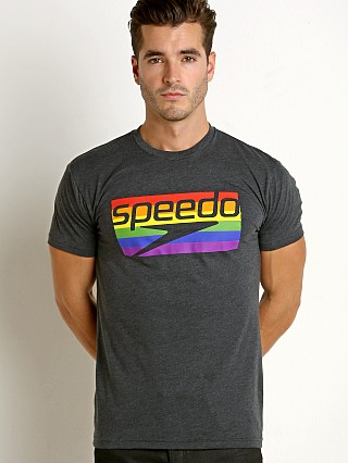 Model in grey/rainbow Speedo Rainbow Pride Tee