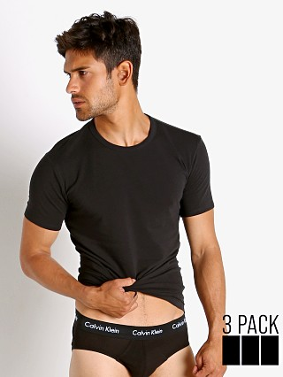 Complete the look: Calvin Klein Cotton Stretch Wicking Crew Neck Shirt 3-Pack Black