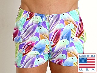 LASC Malibu Swim Shorts Purple Parrots