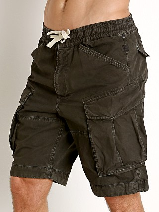 Model in raven G-Star Rovic Relaxed Bitt Canvas Shorts