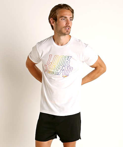 Speedo Look Ahead Rainbow Pride Tee White/Rainbow
