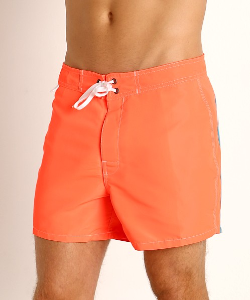 "Sundek 14"" Classic Low-Rise Boardshort Fluo Orange #9"