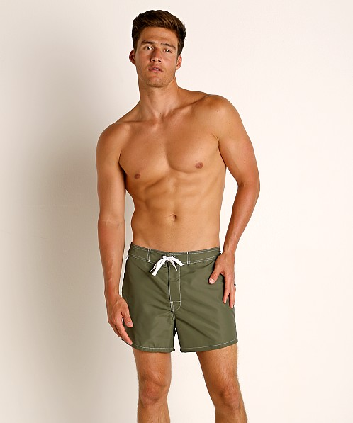 "Sundek 14"" Classic Low-Rise Boardshort Dark Army #7"
