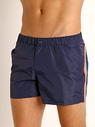 "Sundek 13"" Elastic Waistband Surf Trunk Dark Blue #7"