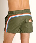 "Sundek 13"" Elastic Waistband Surf Trunk Dark Army #7, view 4"