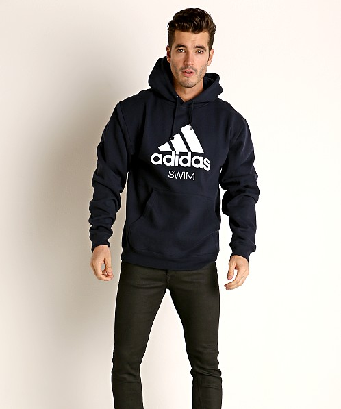 Adidas Swim 10 Oz Fleece Hoodie Navy