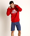 Adidas Swim 10 Oz Fleece Hoodie Red, view 1