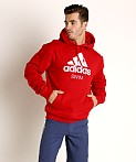 Adidas Swim 10 Oz Fleece Hoodie Red, view 2