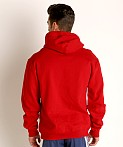 Adidas Swim 10 Oz Fleece Hoodie Red, view 4