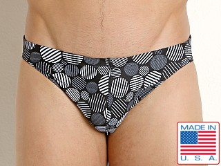 LASC St. Tropez Low Rise Swim Brief Black/White Dots Print