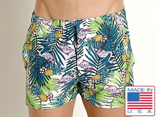 LASC Malibu Swim Shorts Pink Flamingos
