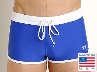 LASC American Square Cut Swim Trunks Royal
