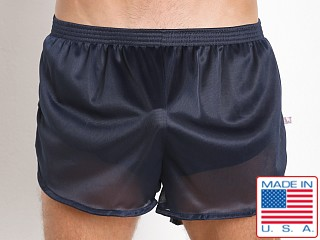 American Jock 70's Retro Featherweight Running Shorts Navy