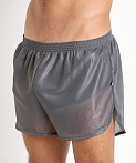 American Jock 70's Retro Featherweight Running Shorts Charcoal, view 3