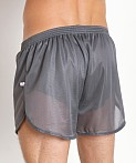 American Jock 70's Retro Featherweight Running Shorts Charcoal, view 4