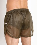 American Jock 70's Retro Featherweight Running Shorts Army, view 4