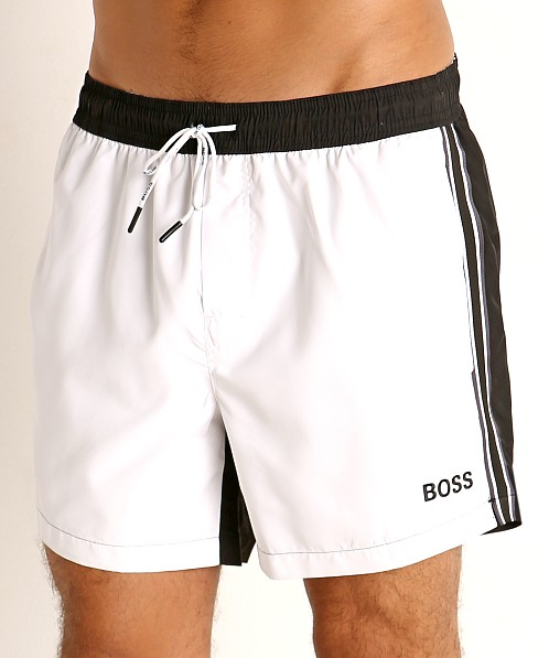 Hugo Boss Bluefin Swim Shorts White
