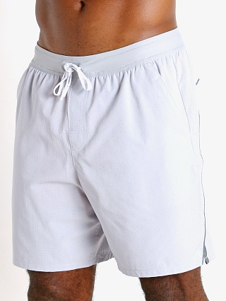 Model in gray/light heather Under Armour Shoreman Iso-Chill 2-in-1 Short Gray Light Heather
