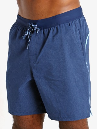 Model in academy/light heather Under Armour Shoreman Iso-Chill 2-in-1 Short Academy