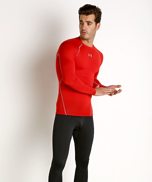 Under Armour Heatgear Longsleeve Compression Tee Red