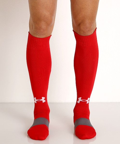 Under Armour Soccer Solid Over-the-Calf Socks Red