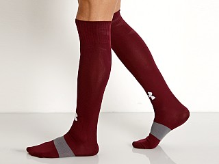 Under Armour Soccer Solid Over-the-Calf Socks Maroon