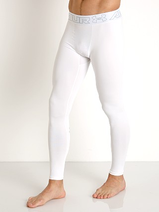 Model in white Under Armour ColdGear Compression Legging