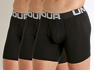 "Complete the look: Under Armour Charged Cotton 6"" Boxerjock 3-Pack Black"