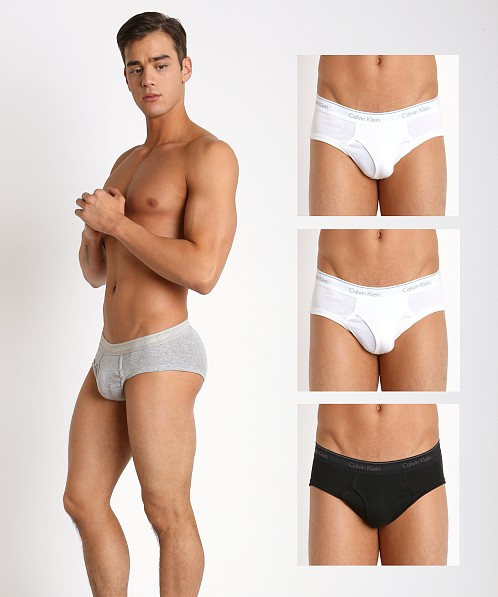 Calvin Klein Cotton Classics Low Rise Briefs 4-Pack Grey/Wht/Blk
