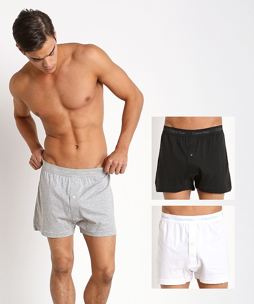 Calvin Klein Cotton Classics Knit Boxer 3-Pack Grey/White/Black